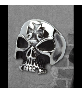 IRON CROSS SKULL - sr1156