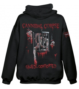 CANNIBAL CORPSE - Caged contorted - Sudadera con cremallera
