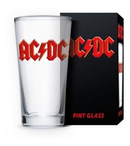 AC/DC - Logo - Vaso de cristal