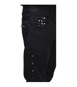 PANTALONES - Straight Fit Studded Jeans