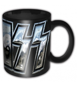 KISS - Chrome logo - Taza
